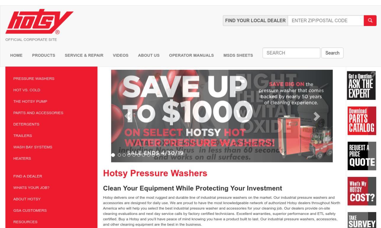 Hotsy Parts Washers
