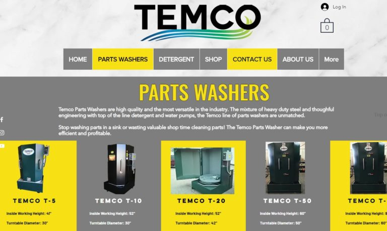 TEMCO Parts Washers